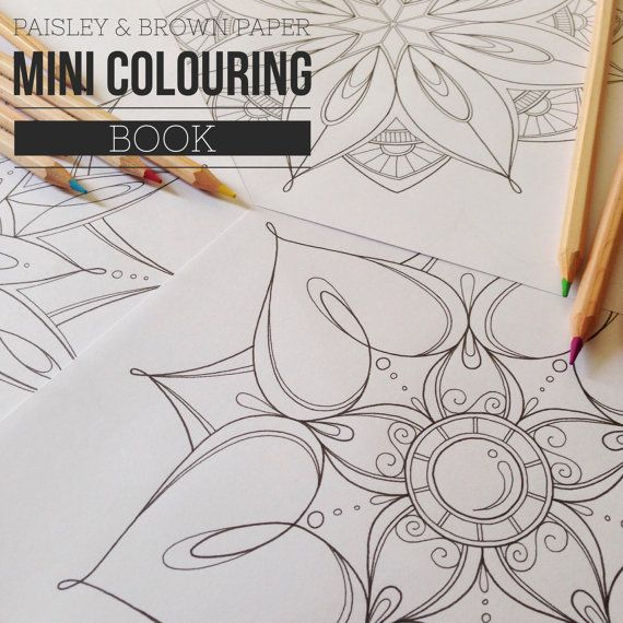 Mini Mandala Colouring Book 3 Pages by Paisley and Brown Paper