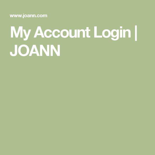 Trend My Account Login JOANN