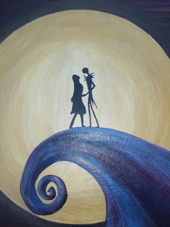 Disney Sally Nightmare Before Christmas Painting, Jack And Sally On