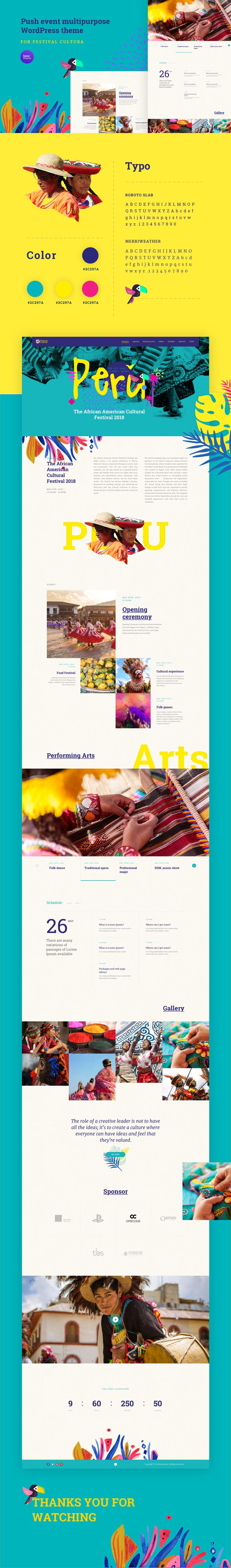 Festival Cultural Landing page - free download on Behance