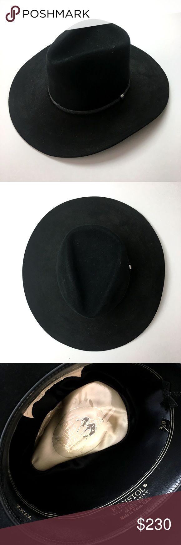 Resistol black cowboy hat sz 6 7/8 Resistol black cowboy hat sz 6 7/8  Made in: USA, texas Size: 6 7/8 Head size (circumference): 21 Materials: beaver, leather colors: black Condition: excellent No Box #CoxyCloset #resistol #beaverhat #cowboy #cowboyhat #authentic #texas #accessories #hat #elegant #menshat Accessories Hats