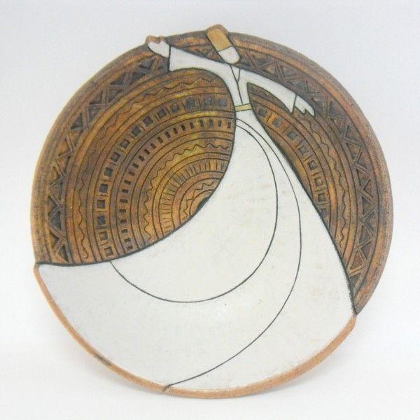 handmade ceramic whirling dervish bowl design
