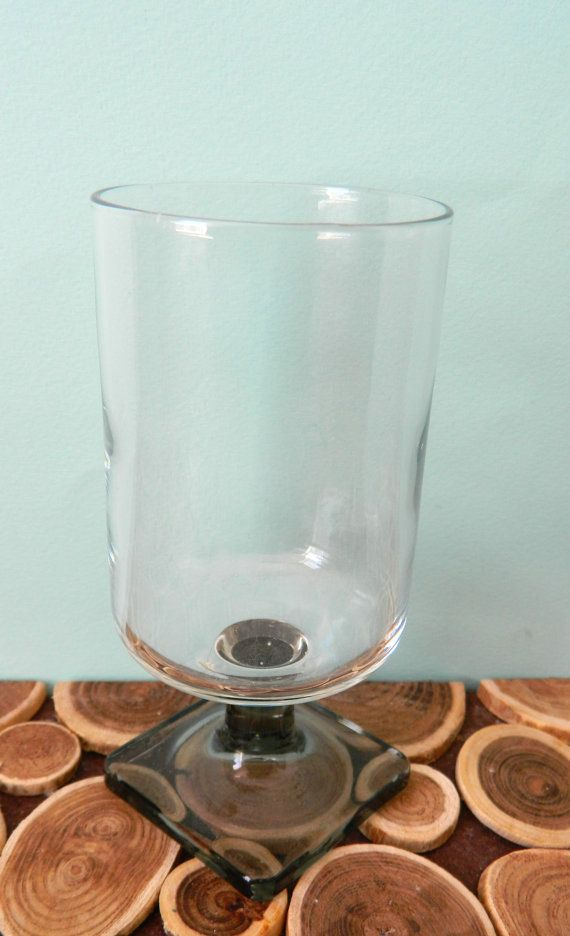 Federal Glass Wine Glass - Set of 2 - Nordic Midnight or Smoke - Midcentury Modern Vintage