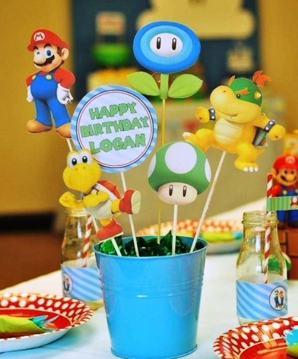 Fiesta Temática Mario Bros Para Niños De Todas Las Edades Decoracion De Mario Bros Fiesta De Mario Bros Cumpleaños De Mario Bros