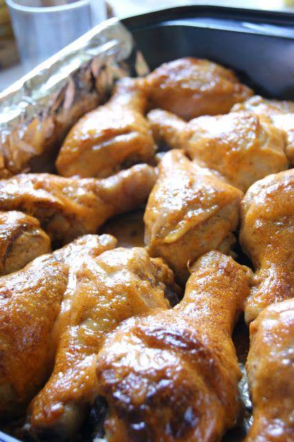 Pałki  z kurczaka pieczone z majonezem