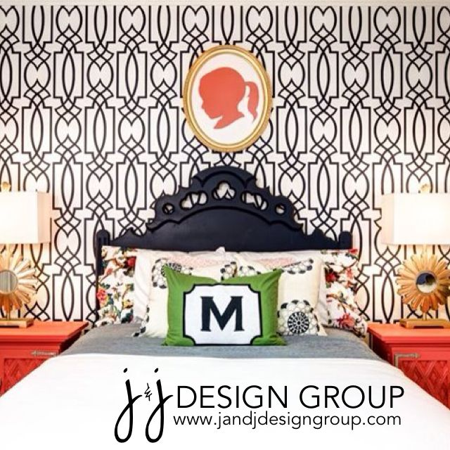 Quite the big girl room...from J & J Design Group Toddler Girl's Room #navy #coral #biggirlroom