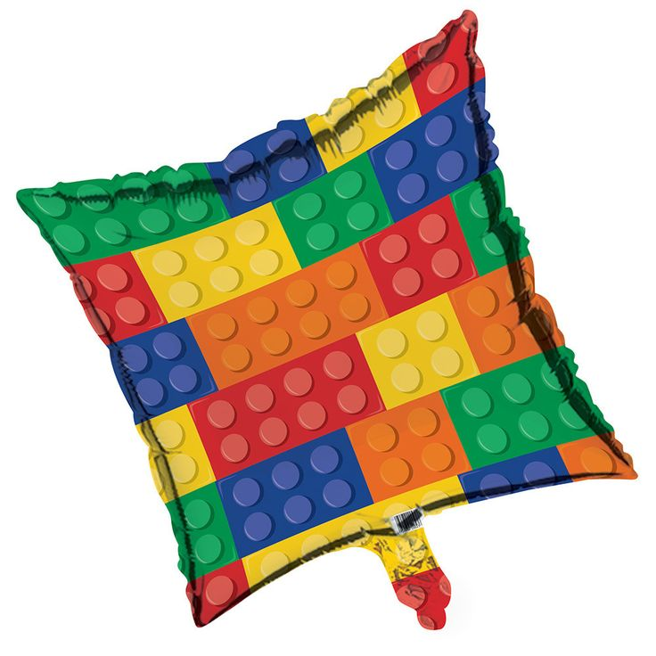"""Decorations that will complete your Lego brick inspired Block party! + Package contains (1) Square 18"""" Mylar Balloon, as pictured + Strings/Ribbon are not included + Shipped uninflated About Balloons"""