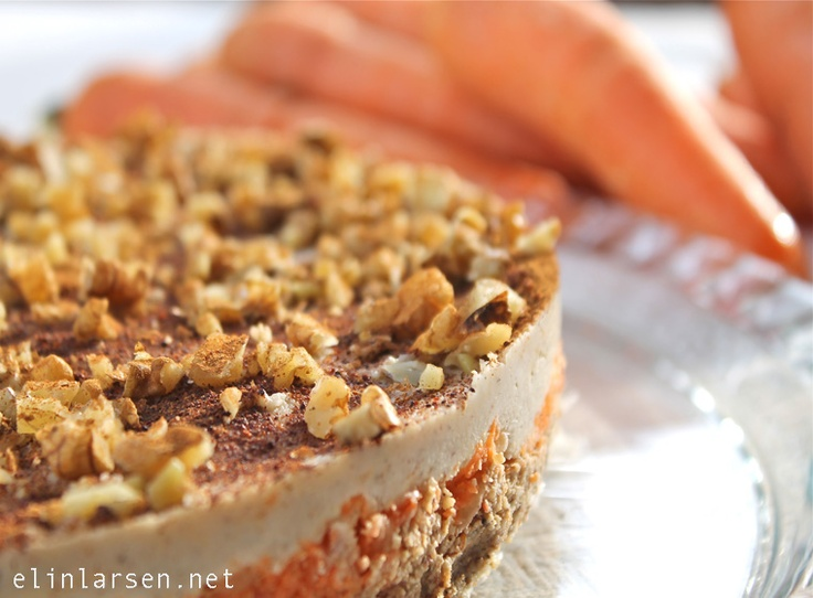 Raw food gulrotkake