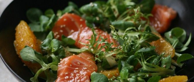 Salmon Sashimi Salad with Ponzu Dressing  Ingredients:  Your favorite mixed greens Loki wild Alaskan salmon, thawed Vegetables sliced thin: cucumber, radish, carrots Garnish: toasted sesame seeds, citrus wedges Ponzu Dressing:  1/4 c lime juice 1/4 c soy sauce 1 tablespoon rice vinegar 2 teaspoon mirin or sugar 1 teaspoon sesame oil Fresh ginger, shredded Red chili, seeds removed, finely chopped