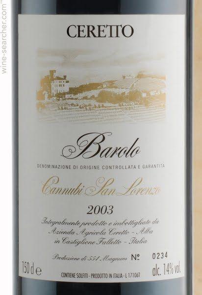 Ceretto Barolo Cannubi San Lorenzo, Barolo DOCG, Italy: prices