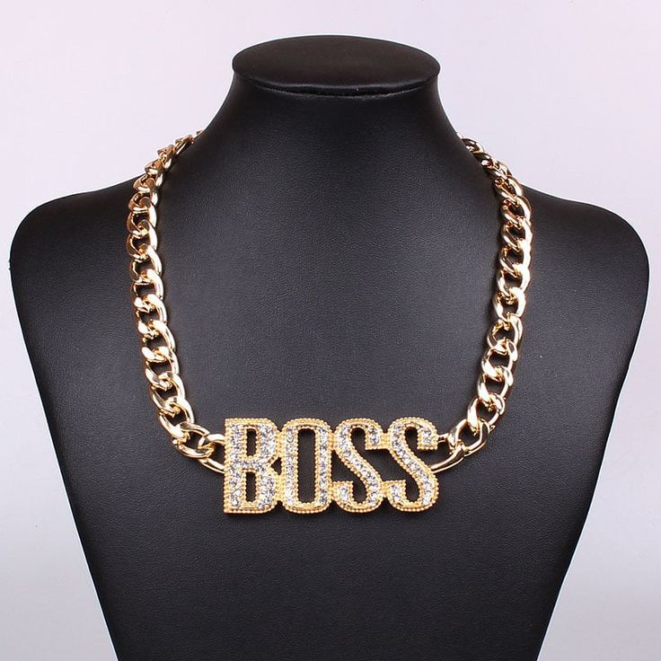 Iced Out 14K Gold 'BOSS' Chain for another level of swag. High quality brass is used for the product in order to have the feel of solid gold chains.  CZ stones shine like real diamonds!    Available payment methods: