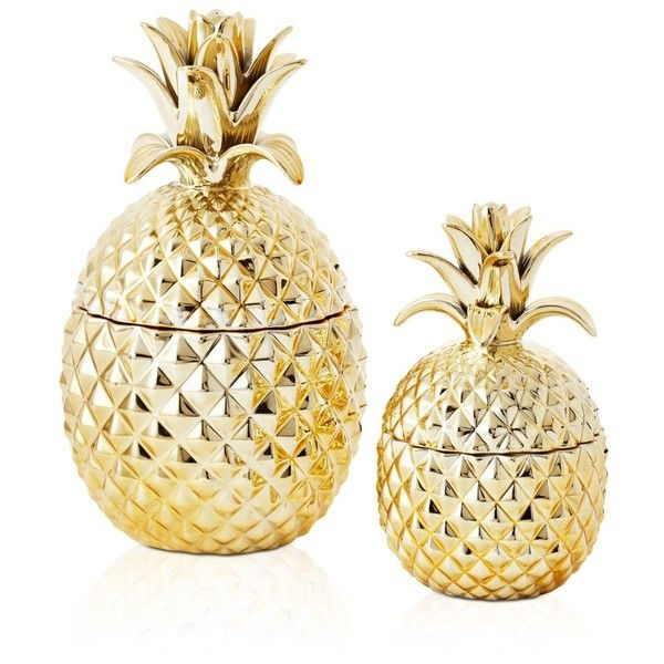 Two S Company Pineapple Jars Found On Polyvore Featuring Home Home Decor Gold Two S