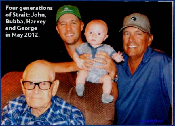 George strait and 4 generationsgeorgestrait king george george