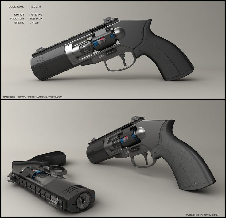 Concept of sci-fi handgun based on revolver profile. No Bullets but energy canister instead of standart drum.  Worked in 3ds max, used vray rendering engine and finished it in photoshop. Model...