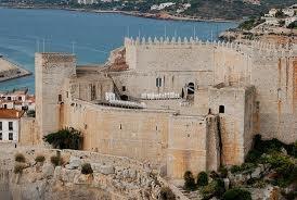 Peñiscola castle from the air. Spain