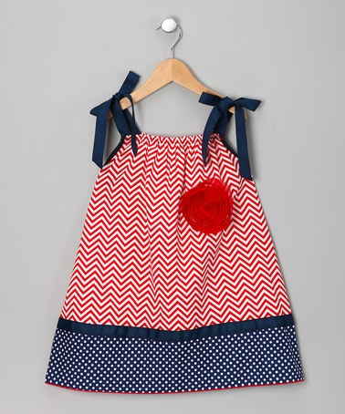 Take a look at this Red Patriotic Shift Dress - Toddler & Girls by Million Polkadots on #zulily today!