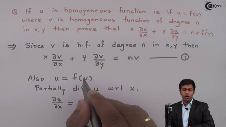 Learn Homogenous Functions (Euler's theorem) Online | Problem 4 based on...