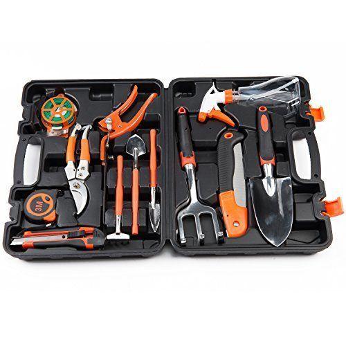 Garden Tools Set 12-Pieces Ergonomic Hand Tools Garden Tool Set Vintage Tool #Gregarder