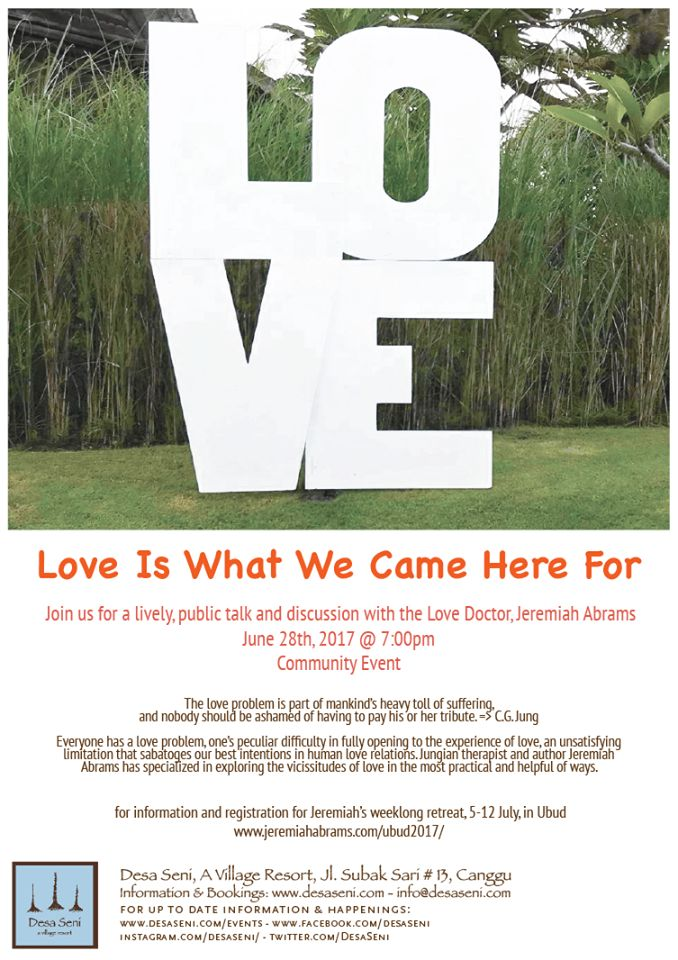 #ECOHOTELS #SWD #GREEN2STAY Desa Seni  Tonight! A great Community event! Doctor Love, Jeremiah Abrams @ 7pm. Come one come all! http://www.green2stay.com/asia-pacific-eco-hotels