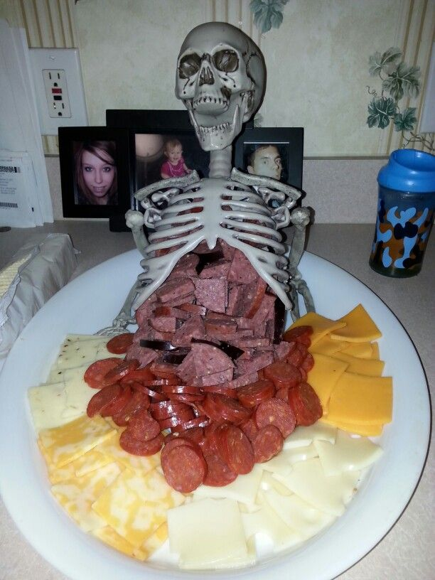 Do you have the guts?! The best meat and cheese tray I've ever made