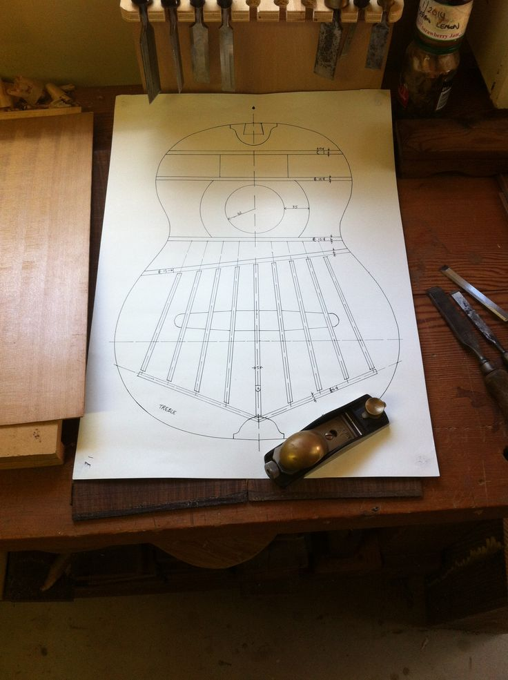 Plans for a Fleta classical guitar.  Domenic Roscioli Guitars