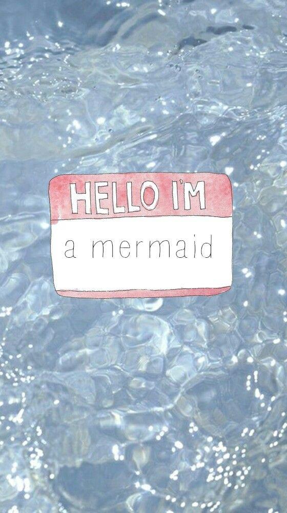 Hello i'm a mermaid wallpaper from Sassy Wallpaper app :)
