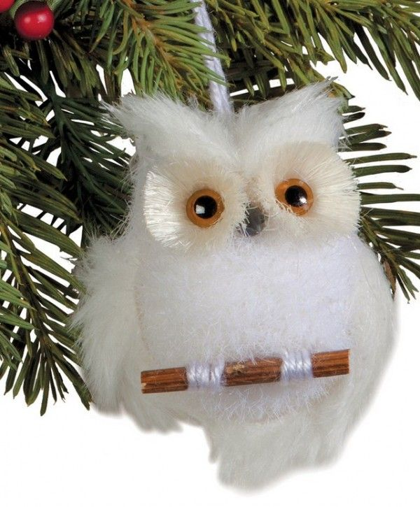 Owl Christmas Ornament Part - 37: Christmas Tree White Owl Ornaments. 10 Best Christmas Owl Ornaments. See  More At Loveitsomuch