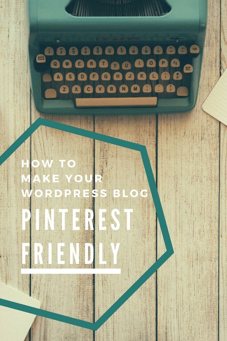 Pinterest is a great way to increase traffic to your blog. So why not make it Pinterest friendly?