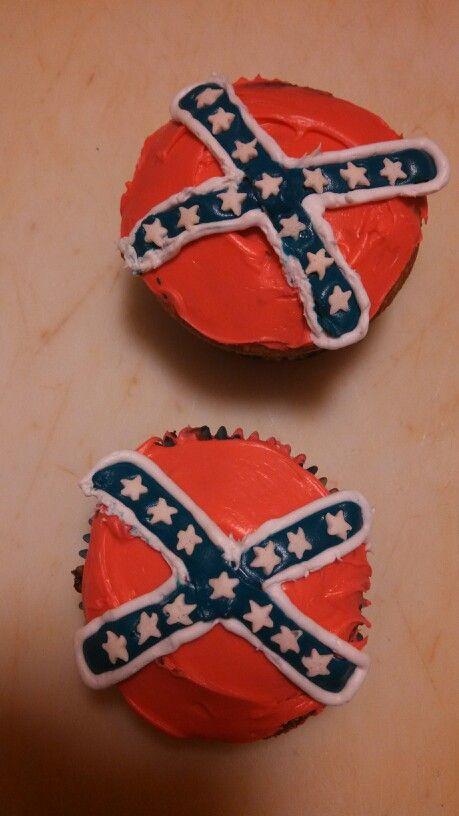 Rebel Flag Cupcake Cake