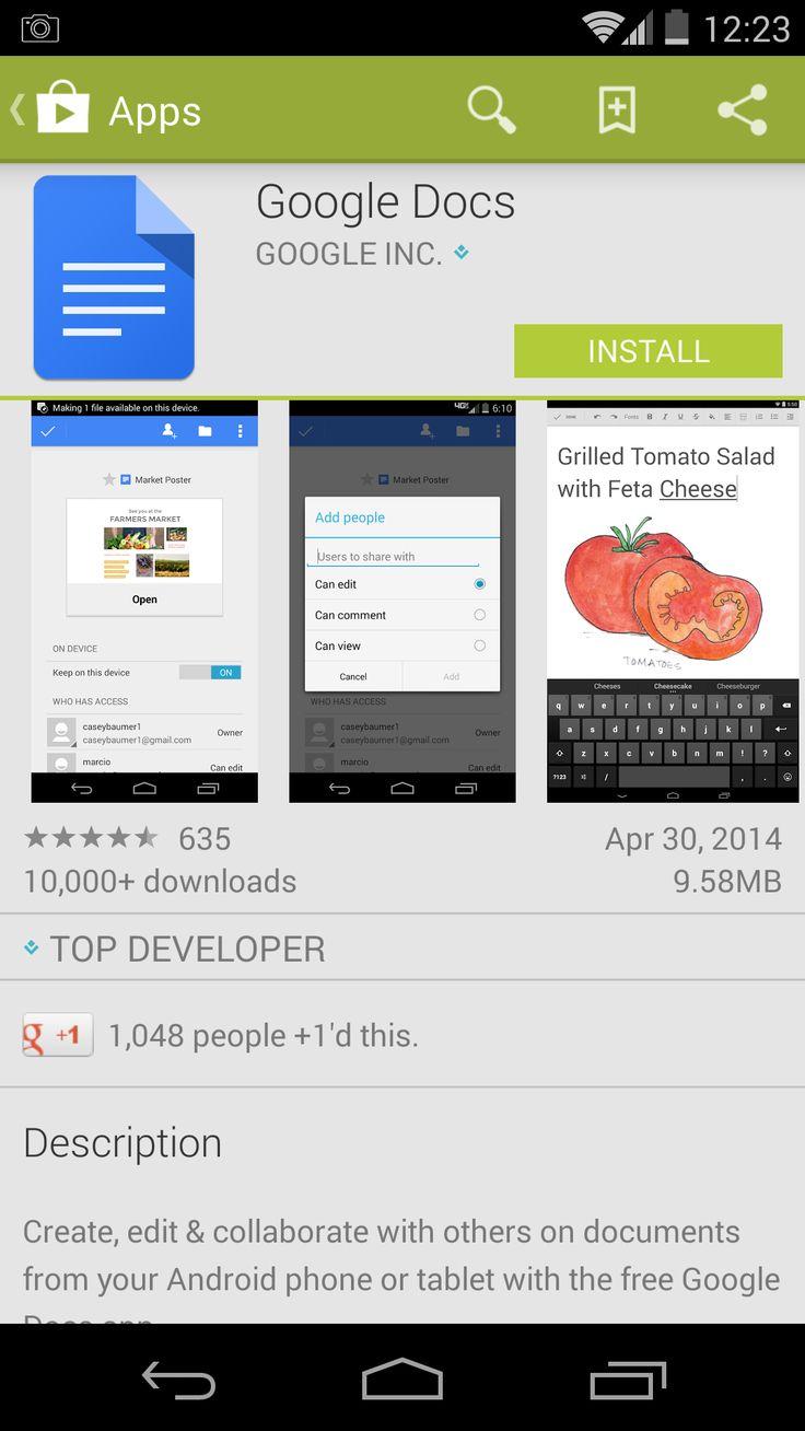 Τα Google Docs και Sheets διαθέσιμα γαι Android και iOS http://pcplusplus.gr/index.php/advanced-stuff/mobile-apps/185-docs-ios-android