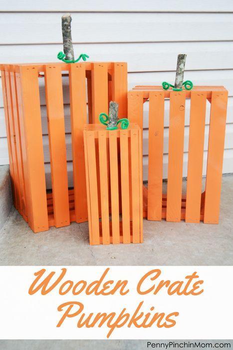 Herbst DIY Dekoration DIY Idee Holzkiste Kürbisse – perfekt für Ihre Veranda ….   – Wooden Crafts