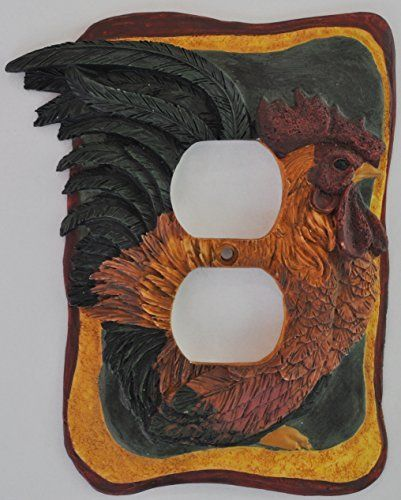 french country rooster kitchen decor electrical outlet. Black Bedroom Furniture Sets. Home Design Ideas