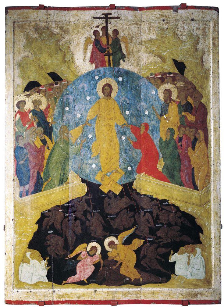 Дионисий и мастерская. Воскресение Христово (1502-1503) (312 х 105 см) (С-Петербург, Русский музей)