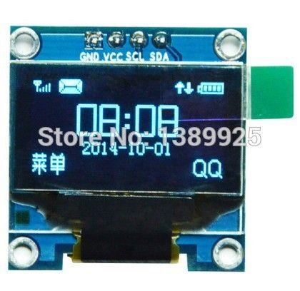 Comercio al por mayor de 0.96 pulgadas Blanco de $ number pines Módulo OLED SSD1306 Unidad IC 128*64 de Comunicación IIC I2C