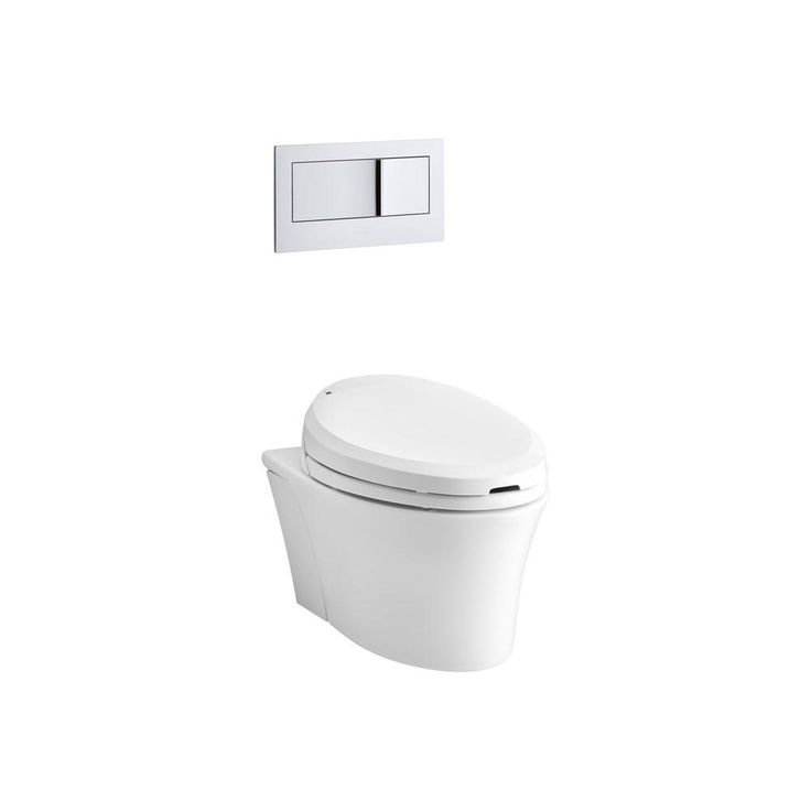 Veil White 1 6 0 8 Gpf Wall Hung Rough In Watersense Elongated Dual Flush Wall Hung Custom Height Rear Outlet Toilet Wall Hung Toilet Kohler Veil Wall Mounted Toilet