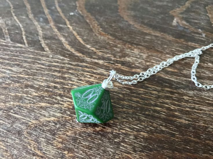 D100 dice necklace forest dice pendant dungeons and dragons geek geekery green black dice pendant pathfinder jewelry D20 girl by MageStudio on Etsy