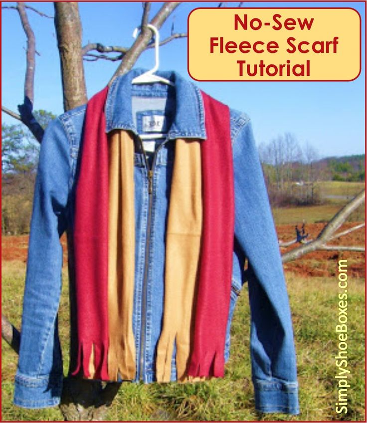 Simply Shoe Boxes: No-Sew Fleece Scarves ~ Simple How to Instructions