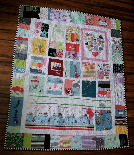 Custom Memory Quilt using baby clothes or old keepsake