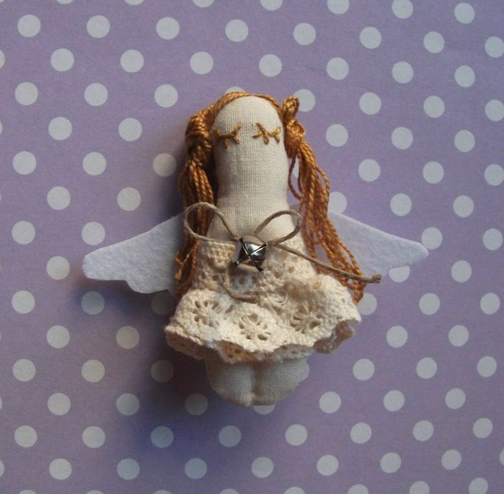 Handmade angel brooch