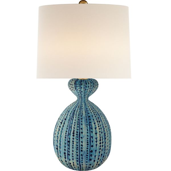 Gannet table lamp circa lighting blue pattern table lamp statement lamp side table lamp charleston sc