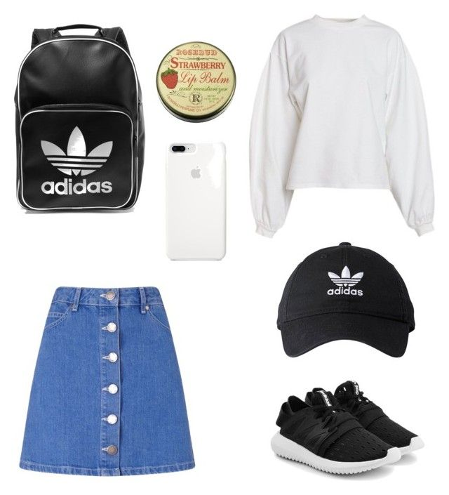 """""""⛑⛑⛑"""" by dhmhtra-bourou on Polyvore featuring Miss Selfridge, NLY Trend, adidas and adidas Originals"""