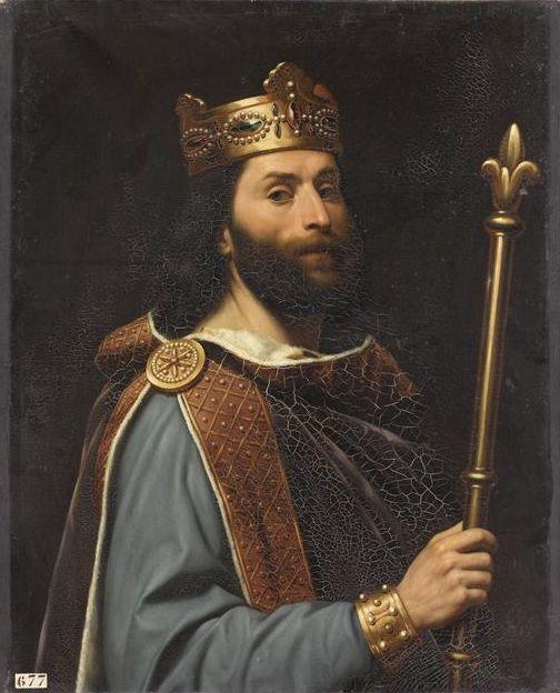 Amiel - Louis II dit le Bègue né le 1er novembre 846, mort le 11 avril 879 à Compiègne. Roi des Francs (877-879), fils de Charles II dit le Chauve et Ermentrude d'Orléans