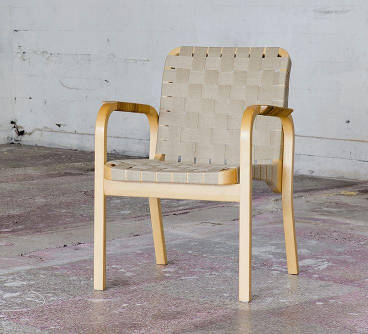 Artek 45 tuoli uudelleenvyötettynä. #artek #artek45 #alvaraalto #finnishdesign #verhoilu
