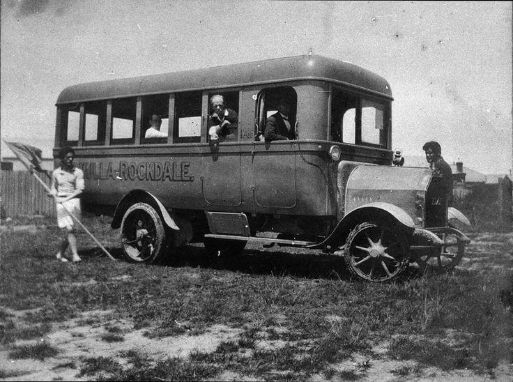 Cronulla to Rockdale bus,somewhere in Rockdale,in southern Sydney in 1918.