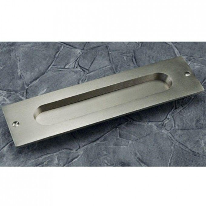 Ideal Rectangular Pocket Door Pull with Oval Recession