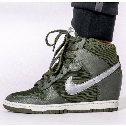 NIKE DUNK SKY HIGH HIDDEN WEDGE ESSENTIAL GREEN 528899 302 #nike #nikelab  #nikedunk