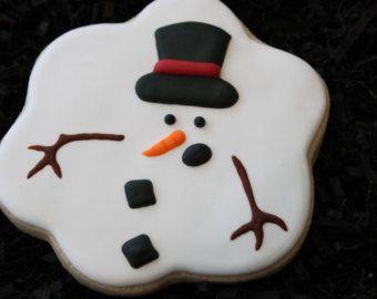 Christmas Cookies Winter Cookies Custom by 4theloveofcookies