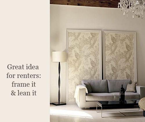 17 best ideas about framed wallpaper on pinterest