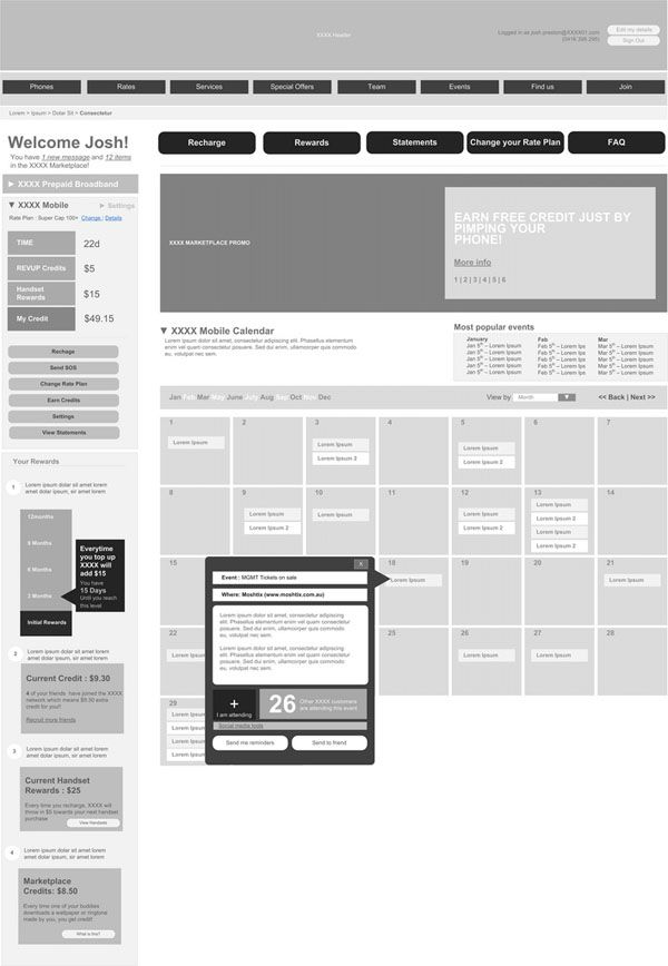 Web and Mobile Wireframe Sketches (19)