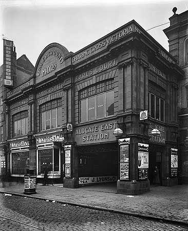 Aldgate East Station, 8 Feb 1911 via English Heritage
